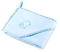 Дитячий махровий рушник з куточком Sensillo Sheep Blue, фото 1