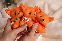 Декоративная оранжевая лиса с мягкого фетра