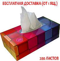 Салфетки 2х-слойные 200 листов коробке