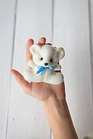 Декоративный  Мишка Мини с фетра в молочном цвете