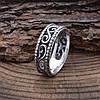 Серебряное кольцо Тиамо вес 2.85 г размер 18, фото 3