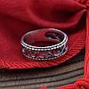 Серебряное кольцо Тиамо вес 2.85 г размер 18, фото 5