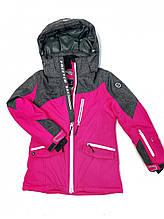Детская розовая лыжная куртка Freever