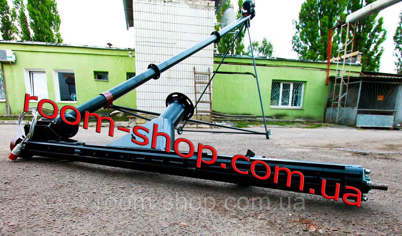 Шнековый зернопогрузчик (погрузчик) с подборщиком   диаметром 159 мм длиною 8 метров