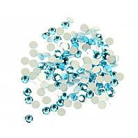 Стрази скляні SS 3 Аквамарин , 100 шт