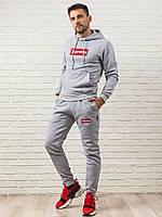 Мужской спортивный костюм SUPREME (серый)