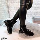 Женские зимние ботинки в черном цвете, из натуральной замши 36 ПОСЛЕДНИЕ РАЗМЕРЫ, фото 7