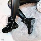 Женские зимние ботинки в черном цвете, из натуральной замши 36 ПОСЛЕДНИЕ РАЗМЕРЫ, фото 8