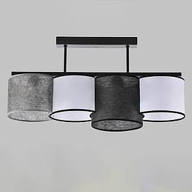 Люстра потолочная на четыре лампы NM-814281/4B BK MIX
