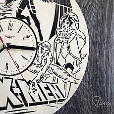 Дизайнерские настенные часы из дерева «Люди Икс», фото 3