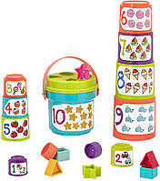 Игровой набор Battat Lite Сортер-пирамидка 2 в 1 Battat  Sort & Stack  Educational Stacking Cups