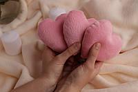 Декоративное розовое сердце с мягкого плюша