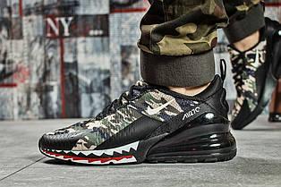 Кроссовки мужские 14838, Nike Air 270, черные, < 43 45 > р. 43-27,7см.