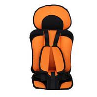 Бескаркасное автокресло Child Car Seat детское авто-кресло в машину Оранжевый