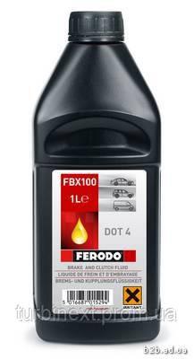 Тормозная жидкость DOT 4 1л FERODO FBX100