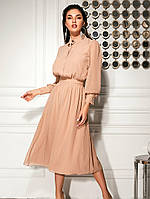 Сдержанное шифоновое платье. Женская одежда. Платье на каждый день