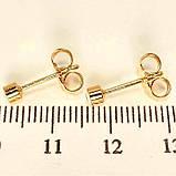 Сережки Оченята гврздики, фото 2