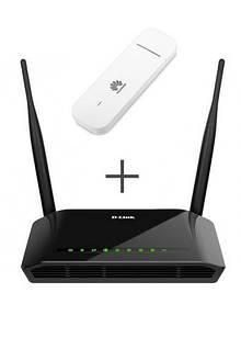 Комплект Wi-Fi роутер D-Link  DIR-620S + 4G модем Huawei E3372