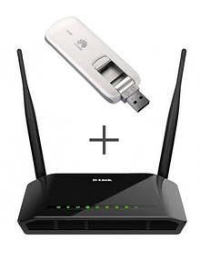 Комплект Wi-Fi роутер D-Link DIR-620S + модем Huawei E3276