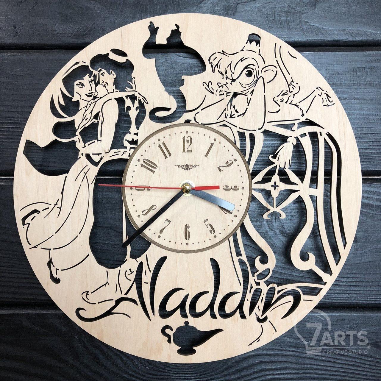 Детские настенные часы из дерева «Aladdin»