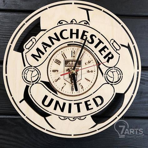 Концептуальные настенные часы в интерьер «Manchester United», фото 2