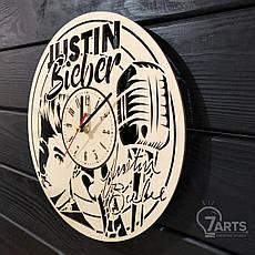 Концептуальные настенные часы из дерева «Justin Bieber», фото 2