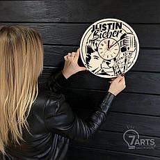 Концептуальные настенные часы из дерева «Justin Bieber», фото 3
