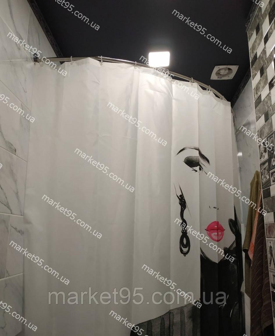 Карниз нержавейка дуга 100*150 для шторы (ванная, душ)