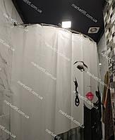Карниз нержавійка дуга 105*160 для штори (ванна, душ)