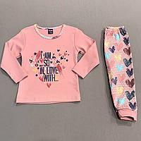 Пижама розовая на девочку р.80 (1 год), 92 (2 года)