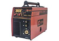 Полуавтомат 2 в 1 Еврорукав Металлическая протяжка Возможность сварки электродом и проволокой  MIG-280 EDON