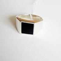 Кольцо из серебра с обсидианом Симон