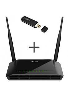 4G интернет комплект Wi-Fi роутер + 4G модем