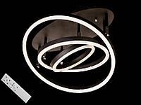 Светодиодная люстра с пультом-диммером коричневая 55010-3, фото 1