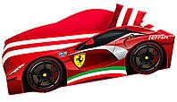 Кровать Ferrari красная с матрасом и подушкой 80*170 Серия Elite.без ящика, без механизма+Подарок наматрасник