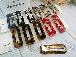 Заколки для волос уточки 6.5*2.3 см металл/пластик 12 шт/уп.