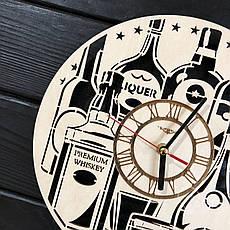 Тематические интерьерные настенные часы бесшумные «Элитный алкоголь», фото 3