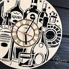 Тематические интерьерные настенные часы бесшумные «Элитный алкоголь», фото 2