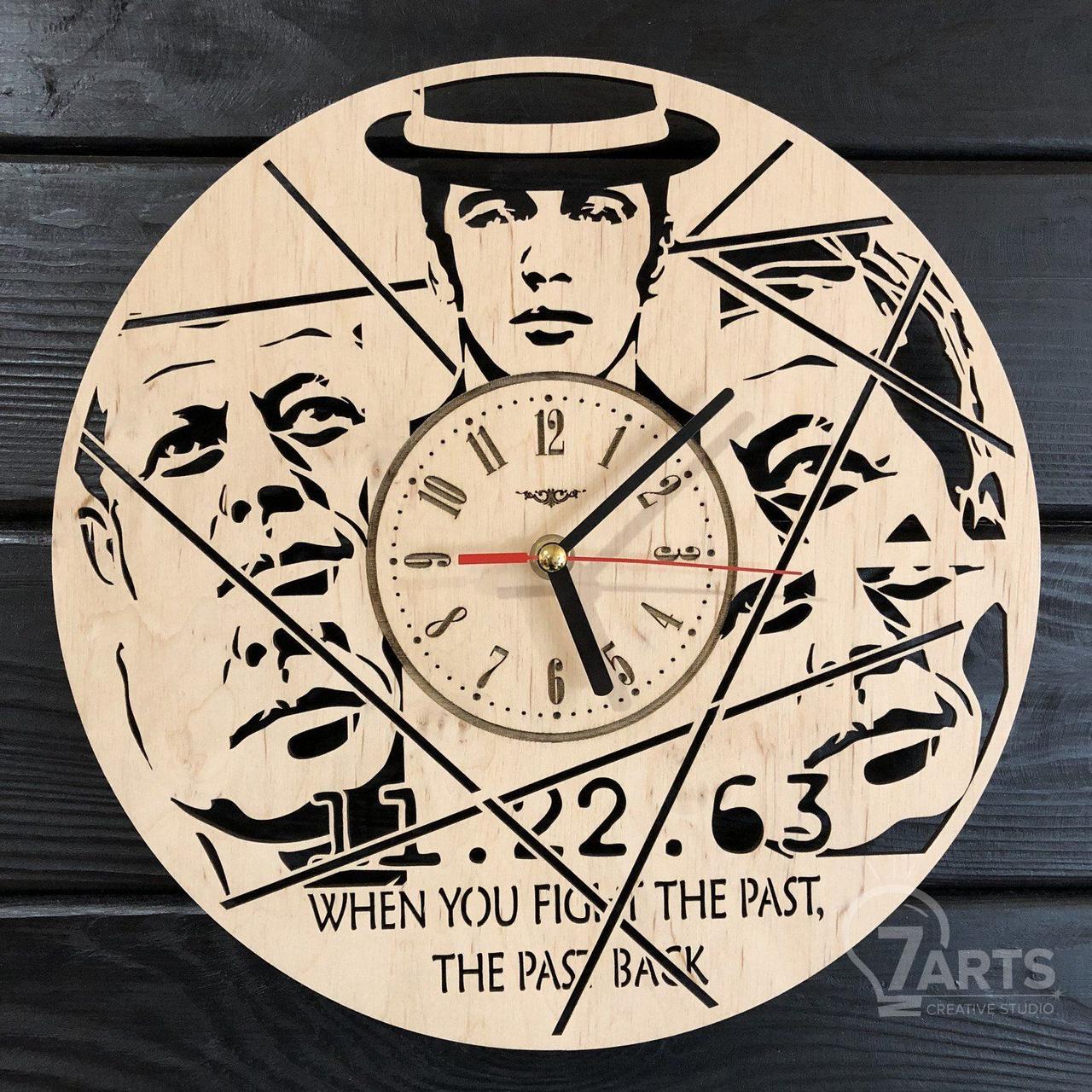 Часы настенные из дерева «11.22.63»