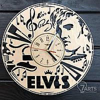 Дизайнерские настенные часы из дерева «Elvis»