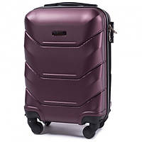 Дорожный чемодан пластиковый Wings 147 ручная кладь 4 колеса бордовый