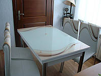 """Комплект кухонный стол и стулья """"Н СВ 019"""" МДФ каленое стекло 70*110 (Лотос-М), фото 1"""
