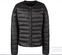 Куртка женская короткая демисезонная  стеганая черная, маленького размера, фото 1