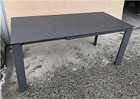 Стол раскладной Marlow DF505-2Tg серый, столешница каменная крошка 1200(+500)х800х770