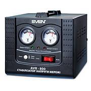 Стабилизатор напряжения SVEN AVR-800, стабілізатор напруги СВЕН АВР-800, релейный, мощность 800 В*А