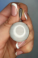 Кулон серебряный с улекситом
