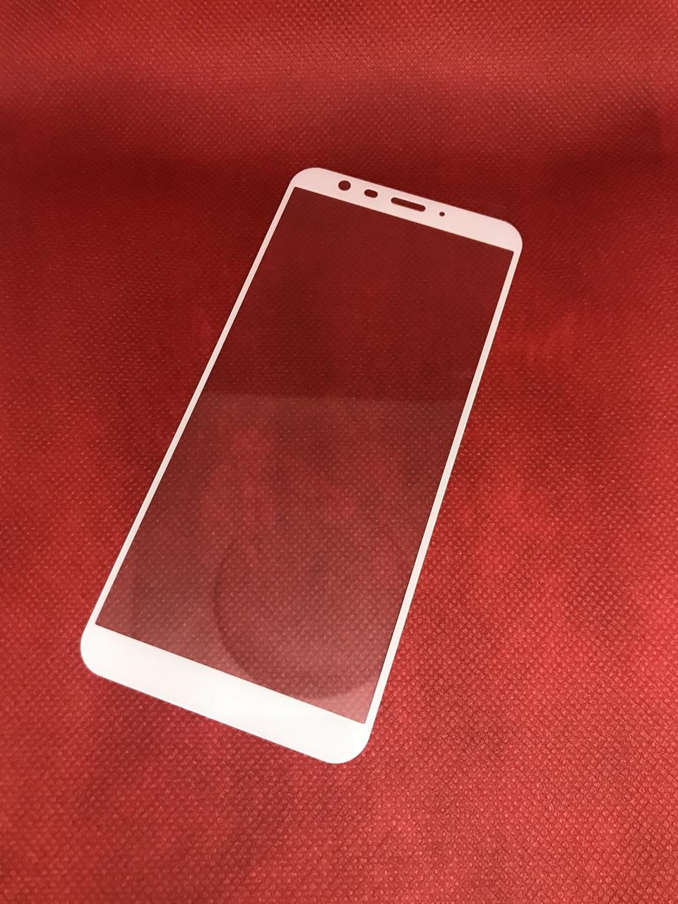 Meizu M8C защитное 2,5D 3D стекло Full Cover (белая окантовка) полное покрытие