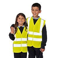 Детский светоотражающий жилет JN14 L (7-9 лет), Желтый