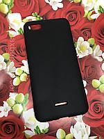 Xiaomi Redmi 6A чехол цветной силиконовый матовый черный