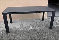 Стол раскладной Marlow DF505-2Tg серый с черными ножками, столешница каменная крошка 1200(+500)х800х770